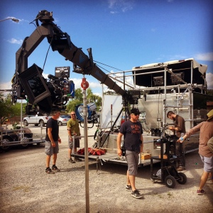 Red Epic on 18' arm