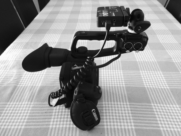 C100 Mark II with Ninja Star recorder.